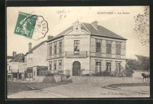AK Mortcerf, La Mairie, Ansicht vom Rathaus