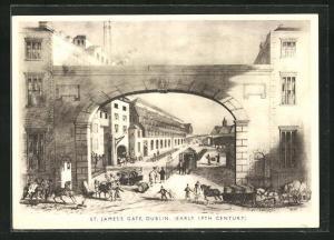 Künstler-AK Dublin, St. James Gate, Early 19th Century