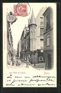 AK Paris, Rue Vieille du Temple, Strassenpartie