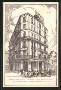 Lithographie Lourdes, Grand Hotel Royal