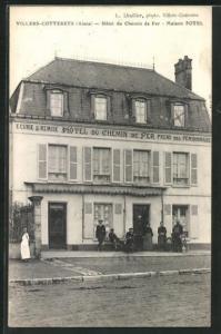 AK Villers-Cotterets, Hotel du Chemin de Fer, Maison Potel
