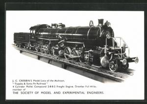 AK The Society of Model and Experimental Engineers, J. C. Crebbins Model Loco of the Atchison, Topeka & Sta. Fe Railroad