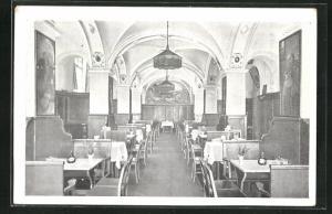 AK München, Weinrestaurant Apostel-Keller, Zweigstrasse 10, Innenansicht
