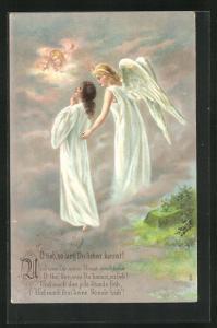 AK O lieb, so lang du lieben kannst! Engel