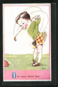AK I'm sorry about that, Mädchen beim Golf spielen