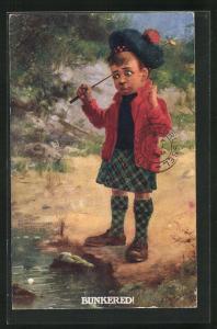 AK Bunkered! schottischer Junge mit Golfschläger