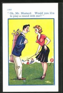 AK Oh, Mr. Mustard, Paar beim Golf