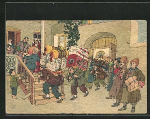 Künstler-AK sign. Oskar Schmerling: Tiflis / Georgien, Geschenke für ein Brautpaar