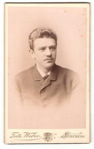 Fotografie Fritz Weber, Nürnberg, Portrait junger blonder Mann mit freundlichem Blick