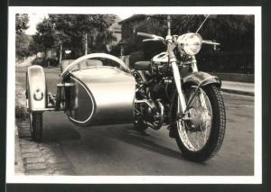 Fotografie Motorrad Panther Express, Krad mit Seitenwagen