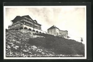 AK Ebensee, Hotel Ebensee-Feuerkogel im Höllengebirge mit Schwebebahn