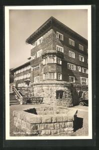 AK Hirschberg, Sporthotel Auenhütte mit Brunnen