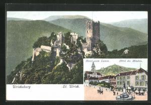 AK Rappoltsweiler, Ulrichsburg, Hotel zum Lamm, Hotel du Mouton
