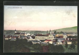 AK Gyulafehervar, Panoramablick vom Berg
