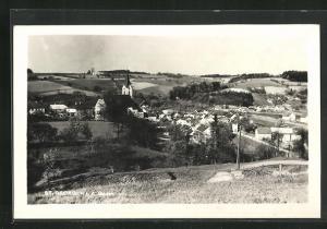 AK St. Georgen a. d. Gusen, Panoramablick von der Bergwiese