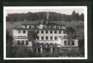 AK Gross-Aupa, Blick auf das Hotel