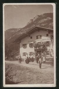 AK Niederbreitenbach, Gasthaus zum Dampfl des Andre Adam