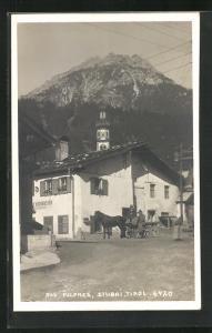 AK Fulpmes / Stubai, Kutsche vor dem Gasthof Krösbacher