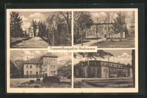 AK Neuhammer, Haus des Kommandanten, Offizier-Heim, Standortverwaltung, Truppenübungsplatz