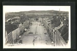 AK Braunau, Totalansicht mit Marktplatz