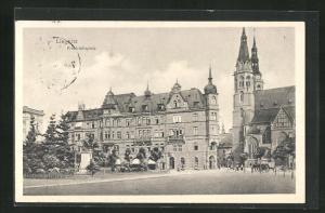 AK Liegnitz, Blick auf den Friedrichsplatz