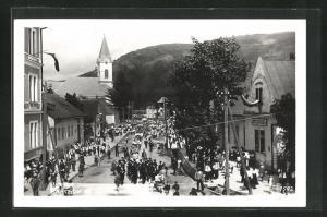 AK Rachow, Passanten in der Hauptstrasse