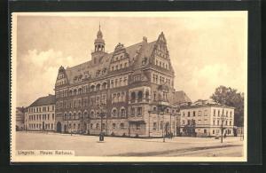AK Liegnitz, Totalansicht Neues Rathaus