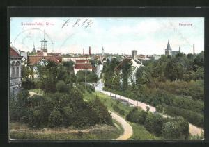 AK Sommerfeld / Lubsko, Ortspartie