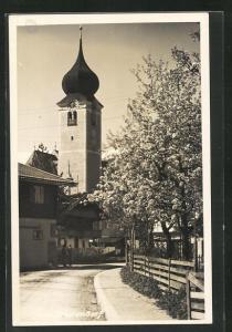 AK Westendorf, Blick auf den Kirchturm