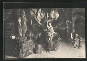 AK Richard Wagner, Siegfried, I. Akt, Siegfried: So schneidet Siegfrieds Schwert
