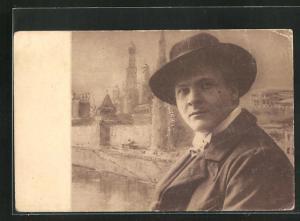 AK Opernsänger Schaliapin mit Hut