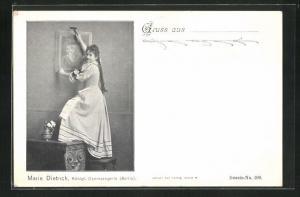 AK Berlin, Opernsängerin Marie Dietrich, Königl. Opernsängerin