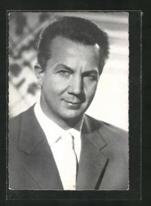 AK Berlin-Dahlem, Opernsänger Rudolf Schock, Hüttenweg 10
