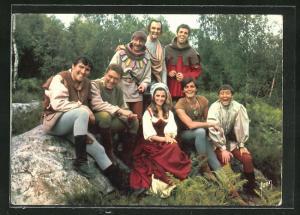 AK Filmszene aus Thierry la Fronde, Les compagnons de Thierry