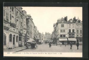 AK Abbeville, La Place de l`Amiral Courbet et Rue Alfred Cendrè