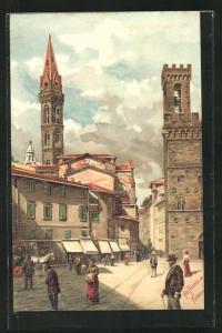 Lithographie Firenze, La Piazza di S. Firenze