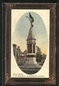 Passepartout-AK Maritzburg, Anglo-Boer War Memorial