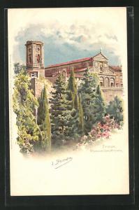 Lithographie Firenze, Chiesa di San Miniato