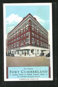AK Cumberland, MD, Hotel Ford Cumberland, Eckfassade