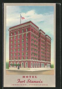 AK Johnstown, PA, Hotel Fort Stanwix, Eckfassade