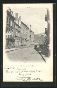 AK Thiers, Rue de la Gare et Collège