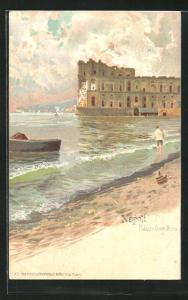 Lithographie Napoli, Palazzo Donn`Anna