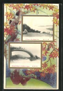 Präge-AK Iwakuni, Kintai Bridge over the River Nishiki