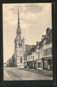 AK Conches, Église Sainte-Foy, Clocher