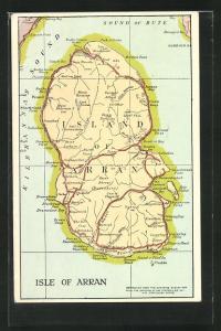 AK Arran, Landkarte mit Insel Arran