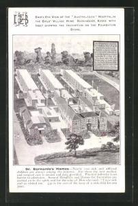 AK Barkingside, Bird`s eye view of the Australasian Hospital in the girls` village home