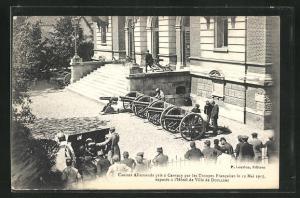 AK Doullens, Canons Allemands pris á Carency par les Troupes Francaises le 12 Mai 1915