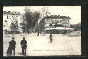 AK Montauban, Place et Avenue de la Gare