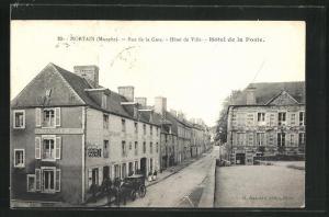 AK Mortain, Rue de la Gare, Hotel de Ville, Hotel de la Poste
