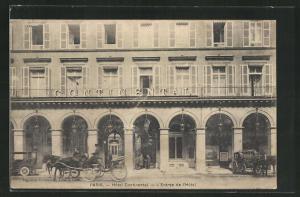 AK Paris, Hotel Continental, L'Entrée de l'Hotel